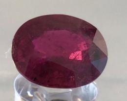 Pretty Oval Deep Purple Red 3.79ct Rubellite Tourmaline G266