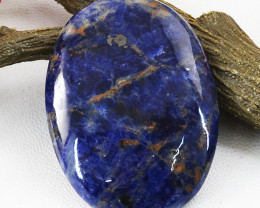 Genuine 82.00 Cts Untreated Oval Shape Sodalite Cabochon