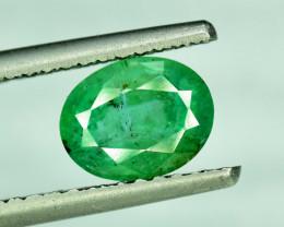 1.95 cts Oval Cut Zambian Emerald Gemstone