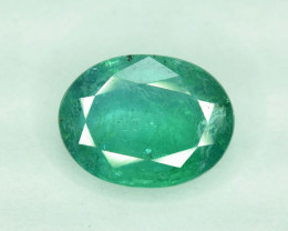 2.45 cts Oval Cut Zambian Emerald Gemstone