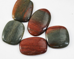 Genuine 158.00 Cts Untreated Bloodstone Cabochons Lot