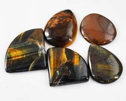 Genuine 135.00 Cts Untreated Tiger Eye Cabochon Lot
