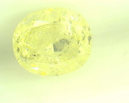 Certified 0.48ct Fancy Intense greenish Yellow  Diamond , 100% Natural Untr