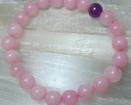 Rose quartz Beats   beacelet cabochons 8 mm   94.00cts @