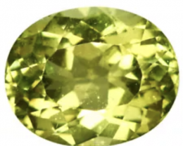 GGA- 3.67  CT APATITE -GREEN!! FROM BRASIL - Top Color !!