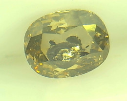 0.55ct  Fancy Brown Green Diamond , 100% Natural Untreated
