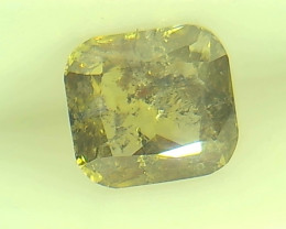 0.52ct  Fancy Intense Brown Green Diamond , 100% Natural Untreated