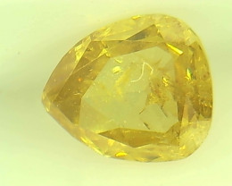 0.55ct Fancy Intense Brown Yellow  Diamond , 100% Natural Untreated