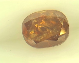 0.52ct  Fancy Deep reddish Brown Orange Diamond , 100% Natural Untreated
