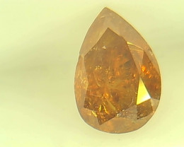 0.46ct Fancy Vivid Yellow Orange  Diamond , 100% Natural Untreated