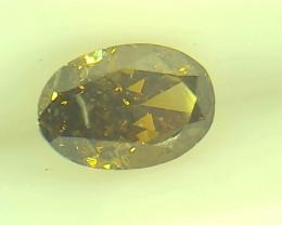 0.42ct  Fancy Deep Brown Green Diamond , 100% Natural Untreated