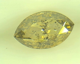 0.50ct Fancy Intense Gray Yellow Green Diamond , 100% Natural Untreated