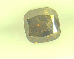 0.41ct Fancy Dark Brown Diamond , 100% Natural Untreated