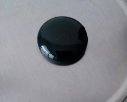 BLACK ONYX  CABOCHON LARGE ROUND 45.10 CARAT WEIGHT