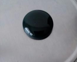 BLACK ONYX  CABOCHON LARGE ROUND 45.10 CARAT WEIGHT