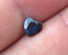 0.89cts Natural Australian Blue Sapphire Heart Cut