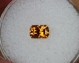 1,24ct Golden Zircon - Master cut!