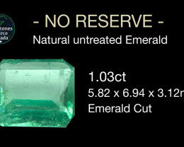 1.03 ct natural untreated Emerald.