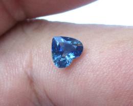 0.86cts Natural Australian Blue Sapphire Heart Cut