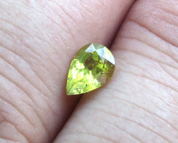 0.91cts Natural Australian Yellow Sapphire Pear Shape