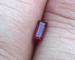 0.29cts Natural Ruby Baguette Shape