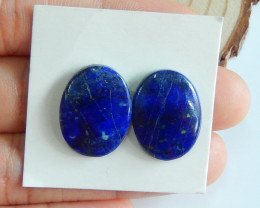 Lapis Lazuli Cabachons Oval Matching Pair  Blue Gemstone Wholesale A988