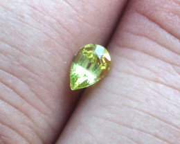0.56cts Natural Australian Yellow Sapphire Pear Shape