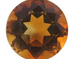 0.97 ct Round Citrine  (Yellowish Orange)