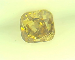 0.38ct Fancy Vivid Brown Yellow  Diamond , 100% Natural Untreated