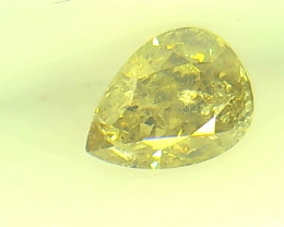 0.40ct Fancy Vivid Gray Green Yellow   Diamond , 100% Natural Untreated