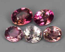 2.80 CTS SWEET PINK NATURAL TOURMAILNE OVAL 5 PCSNR!!
