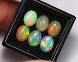 5.87Ct Multi Color Ethiopian Welo Smoked Opal Lot ~ A1613