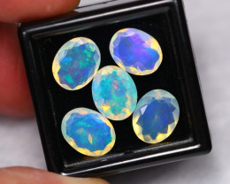 7.37Ct Natural Ethiopian Welo Crystal Faceted Opal Lot ~ B1601