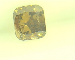 0.31ct Fancy Deep Yellow Brown  Diamond , 100% Natural Untreated