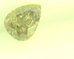 0.335ct Fancy Intense Yellow Green  Diamond , 100% Natural Untreated