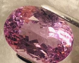 GGA-20.35  ct KUNZITE- COLLECTOR-QUALITY LAVENDER AAA VVS