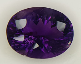 23.95cts Amethyst, Concave Cut, GIANT stone
