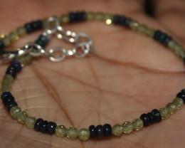 Natural Ethiopian Welo Fire Smoked Opal & Peridot Beads Bracelet 11