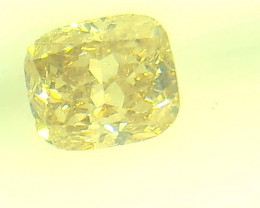 0.39ct Fancy Intense greenish Yellow  Diamond , 100% Natural Untreated