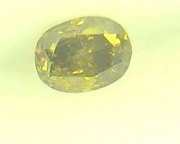 0.32ct Fancy Deep Brown Green  Diamond , 100% Natural Untreated