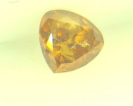0.30ct  Fancy Vivid Brown Orange Diamond , 100% Natural Untreated