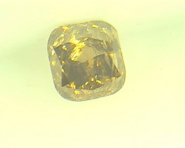 0.28ct  Fancy Intense Brown Diamond , 100% Natural Untreated