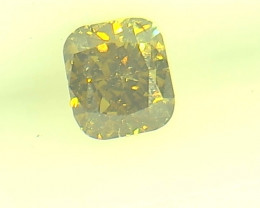 0.28ct Fancy Deep Brown Green Diamond , 100% Natural Untreated