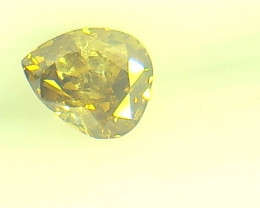 0.25ct  Fancy Deep Brown Yellow Diamond , 100% Natural Untreated