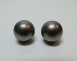 13mm  Tahitian Black Loose  Pearl Pair