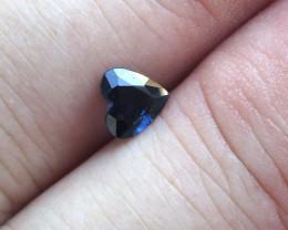 0.66cts Natural Australian Blue Sapphire Heart Shape