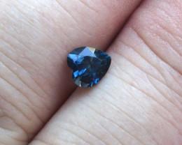 0.91cts Natural Australian Blue Sapphire Heart Shape