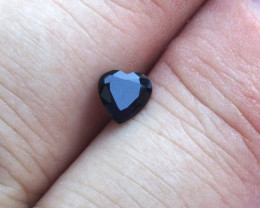 0.73cts Natural Australian Blue Sapphire Heart Shape