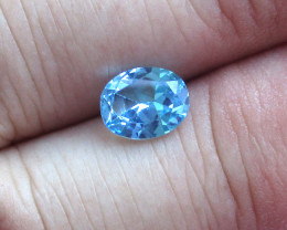 2.00cts Natural Swiss Blue Topaz Oval Cut