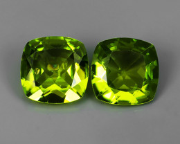 4.05 Cts.Magnificient Top Sparkling Intense Green-Cushion 8.20MM~ NR!!!